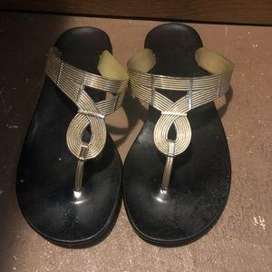 Gold Fergalicious sandal